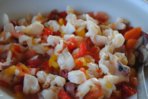 Long Island conch salad.
