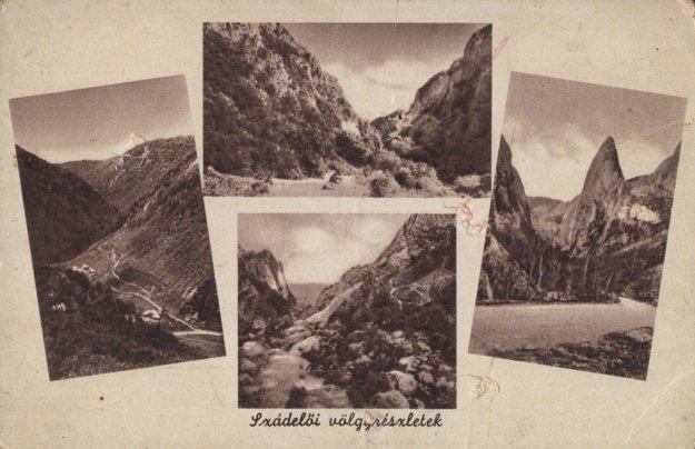 Zádielska dolina na starej pohľadnici.