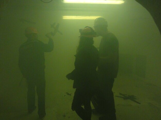Dym bol ako hmla.
