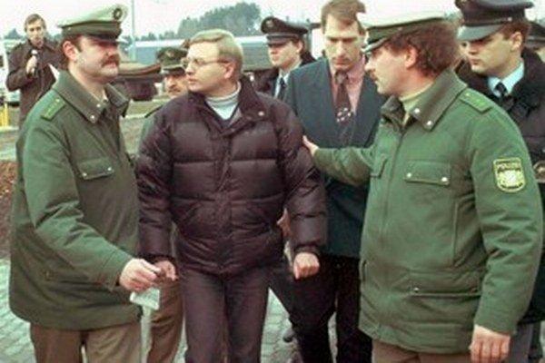Michal Kováč mladší po zavlečení v roku 1995.
