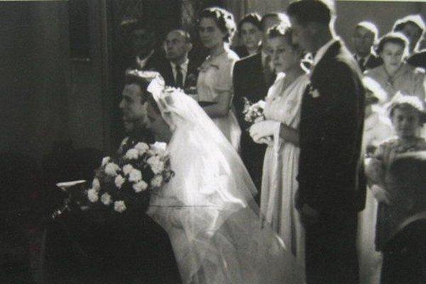 Svadba Jaroslava a Růženy Grünbergovcov.