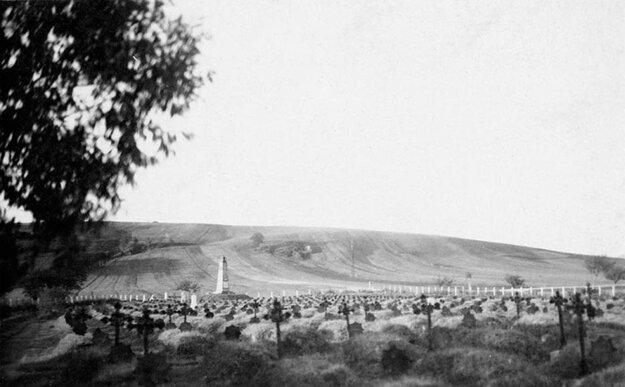 Cintorín okolo roku 1929.