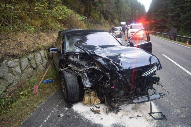 Autonehoda medzi Ružomberkom a Dolným Kubínom