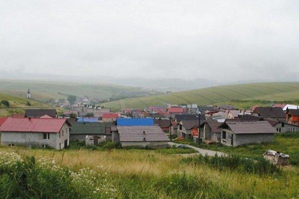 Rómska osada v Bystranoch na Spiši.
