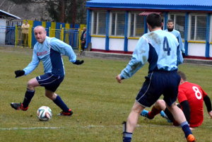 Tri body pre hostí. Za tri góly získali Folkmarčania vRudňanoch tri body.