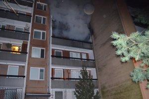 Požiar v bytovke v Dúbravke.