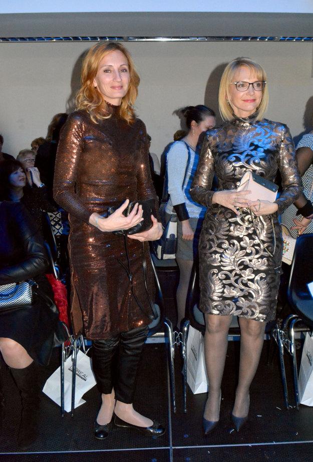 Prominentné diváčky. Ide Sandor k jubileu blahoželala aj viceprimátorka Košíc Renáta Lenártová a módnu šou si nenechala ujsť ani manželka primátora Mária Rašiová.