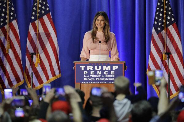 Melania Trumpová, budúca prvá dáma Spojených štátov.