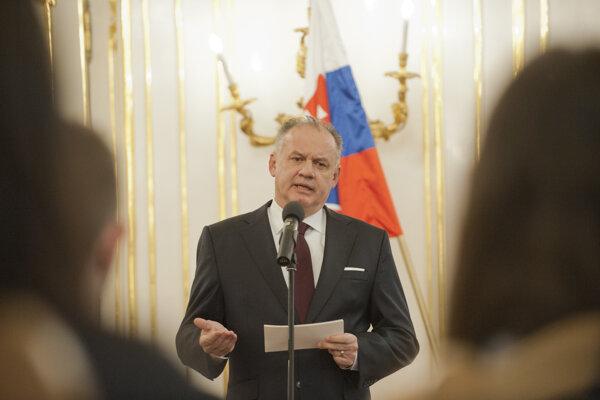 Prezident Andrej Kiska prijal študentov, účastníkov projektu Nenápadní hrdinovia v zápase s komunizmom.