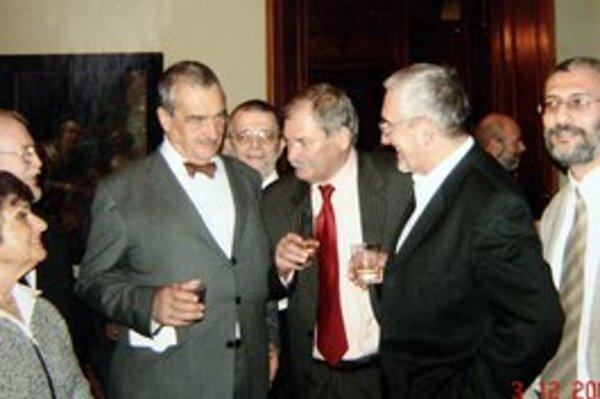 Starosta Hajnáčky Jozef Hunyák s Karlom Schwarzenbergom.