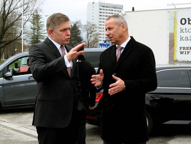 Primátor Ján Nosko zoznámil premiéra s priebehom prác.