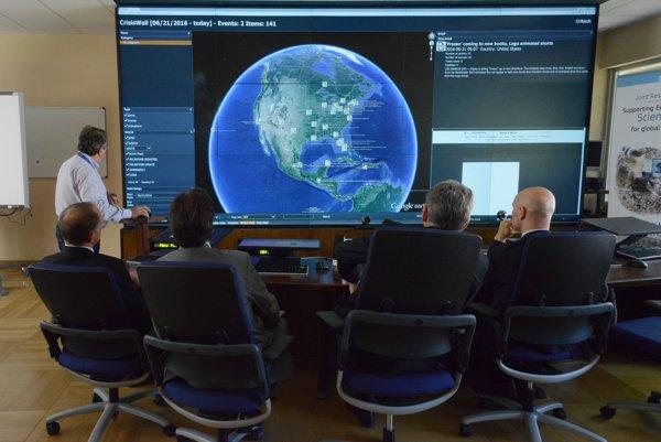 Európske laboratórium pre krízový manažment v talianskom meste Ispra.