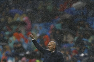 Zidane nebol spokojný.