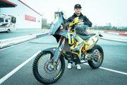 Štefan Svitko s novou motorkou.