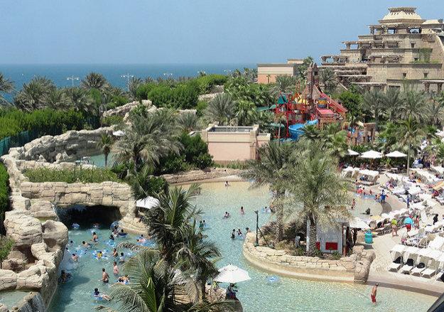 Časť zábavného parku Aquaventure v Dubaji.