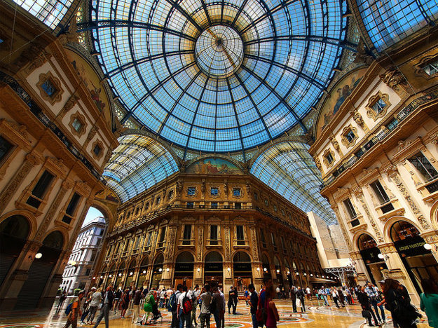 Galleria Vittorio Emanuele v Miláne.