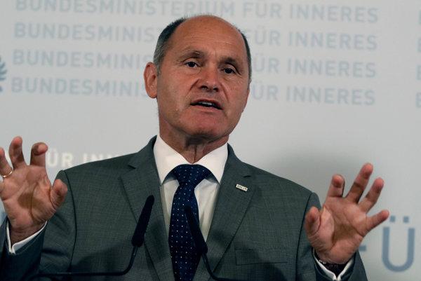 Rakúsky minister vnútra Wolfgang Sobotka.