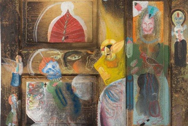Obraz znikdy nepostaveného domu bláznivej Jožiny od Ondreja Zimku.
