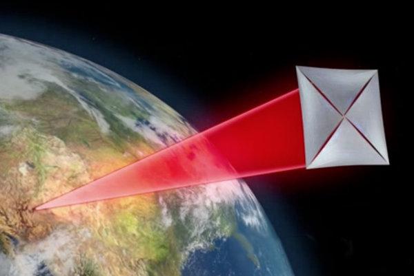 Umelecké zobrazenie sondy projektu Breakthrough Starshot.