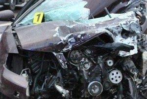 Audi po nehode.