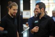 Peter Sagan a šéf tímu Bora Ralph Denk.