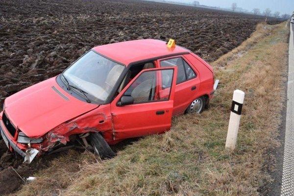 Felicia narazila do protiidúceho auta a skončila mimo cesty.