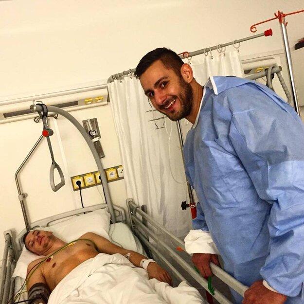 Tomáš Mrviš krátko po operácii.