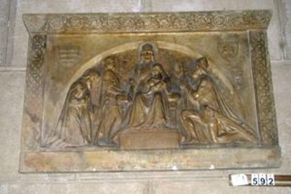 Návrh reliéfu náhrobku pápeža Silvestra II.