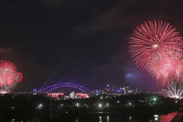 Oslavy príchodu nového roka v austrálskom meste Sydney.