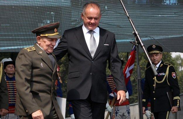 S prezidentom Slovenskej republiky Andrejom Kiskom.