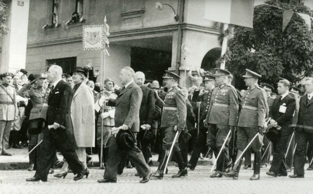 Návšteva prezidenta Beneša v roku 1936.