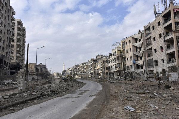 Zruinované Aleppo.