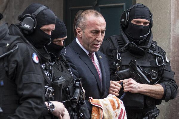 Bývalý premiér Kosova Haradinaj.