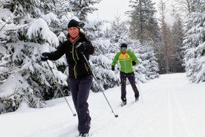 Na snímke bežecko - lyžiarska stopa Beskydsko- Javorníckej magistrály.