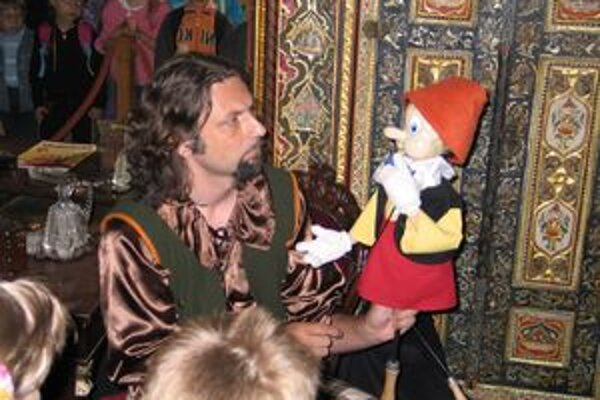 Pinocchia možno na zámku vidieť počas dvoch víkendov.
