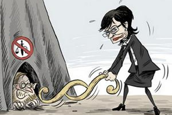 Ministerka spravodlivosti Lucia Žitňanská sklamala kritikov Štefana Harabina, vraj nie je dostatočne rázna.