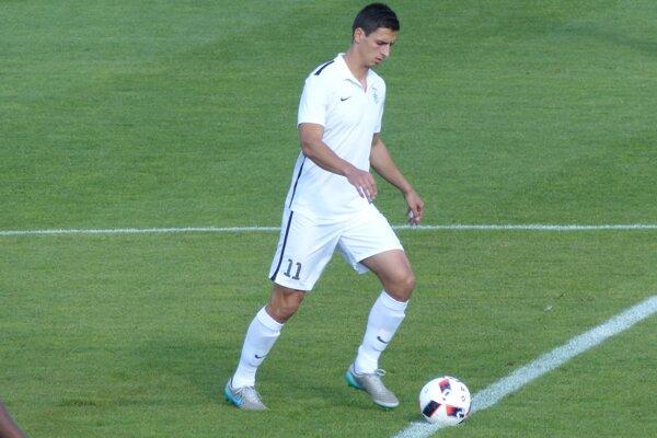 Autor tretieho gólu v zápase MFK Skalica - Znojmo (3:0) Daniel Šebesta.