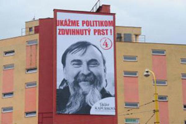 Bilboard strany Paliho Kapurková v Žiline.