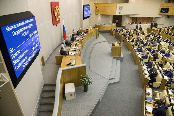 V ruskej Dume schválili návrh zákona, podľa ktoré bude prvé domáce násilie bez ujmy na zdraví priestupkom.
