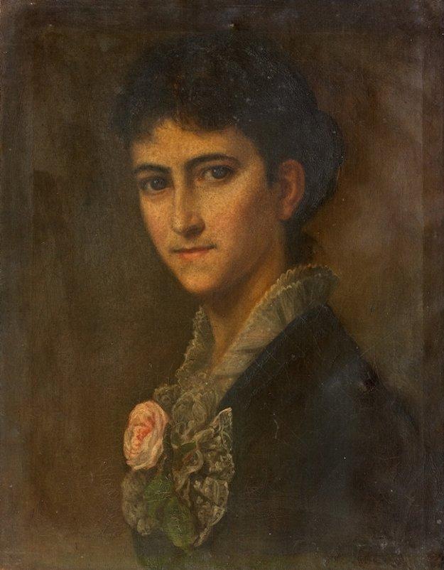 Portrét Eleonóry Sándy.