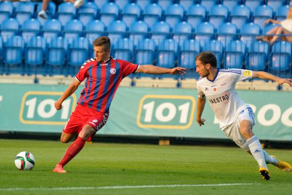 Samuel Mráz (vľavo) ešte v drese FK Senica.
