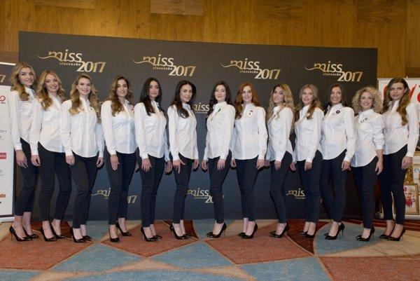 Finalistky súťaže krásy Miss Slovensko 2017.