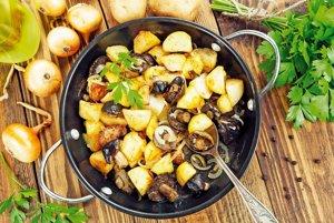 Pečené zemiaky s hubami