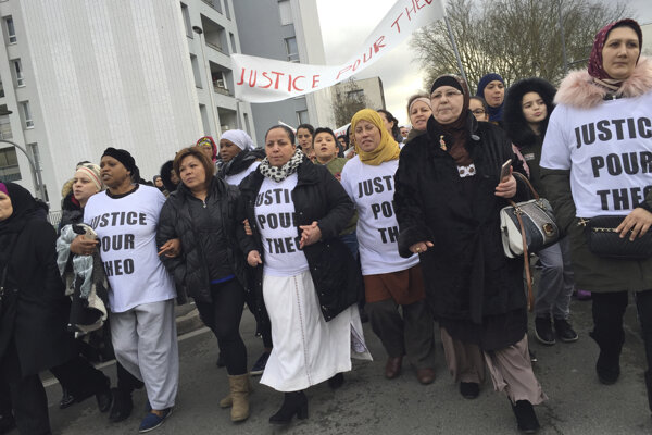 V meste sa konal pochod na podporu obete policajného násilia.