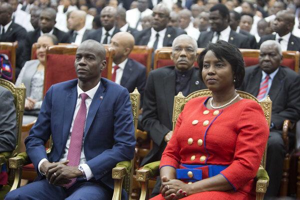 Nový prezident Haiti Jovenel Moise spolu so svojou manželkou Martine.