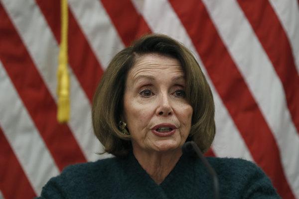 Americká demokratická kongresmanka Nancy Pelosiová.