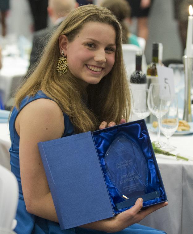 Objavom roka v synchronizovanom plávaní sa stala Kristína Kvasňovská.