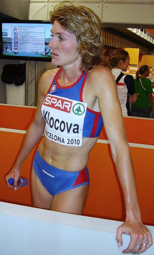 Lucia Klocová po pretekoch v Barcelone.