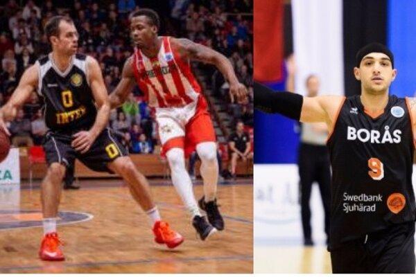 Zľava starý a nový hráč BC Prievidza.