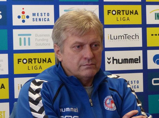 Tréner FK Senica Miroslav Mentel počas tlačovej konferencie pred štartom jarnej časti Fortuna ligy.